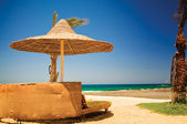 Beautiful tropical beach in the Egypt. — Stock Photo