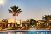 Egyptian resort, swimming pool. — Stock Photo