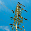 Stock Photo: Blue sky and electrical tower.