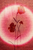 Chic poppies on the canvas. — Stockfoto