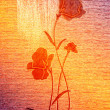 Red poppies on the canvas. — Stock Photo #6520126