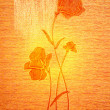 Poppies on the canvas. - Foto Stock