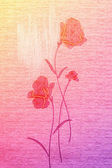 Amazing poppies on the canvas. — Stock Photo