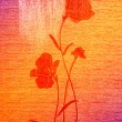 Stock Photo: Wonderful poppies on canvas.