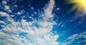 Fun sun in the wonderful sky. — Stock Photo