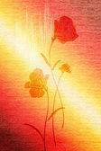Wonderful poppies on the canvas. — Stock Photo