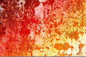 Grungy steel sheet with damaged paint. — Stock Photo