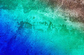 Abandoned turquoise wall background. — Stock Photo