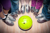 Children's bowling — Stock Photo
