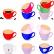 Set of color cups — Stock Vector #5917392