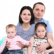 Happy family with two children — Stock Photo #5630265