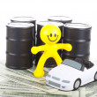 The concept of purchase and sale of fuel. — Stock Photo