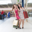 Two friends with purchases — Stock Photo