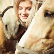 Beautiful woman with horse — Stock Photo #6305767
