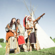 Group of North AmericIndians — Stock Photo #6389404