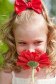 Portrait of the beautiful little girl — Stock Photo