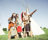 Group of North American Indians — Stock Photo