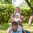 Family having picnic in park — Stock Photo #6559246