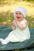 Summer portrait of beautiful baby — Stock Photo