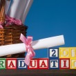 Wooden blocks Graduation 2011 — Stock Photo