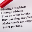 Moving Checklist — Foto de Stock