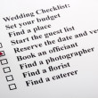 Stock Photo: Wedding Checklist