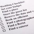 Wedding Checklist - Foto Stock