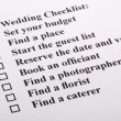 wedding checklist — Stock Photo