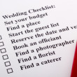 wedding checklist — Stock Photo #6094224