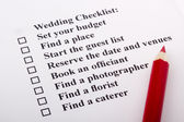 Wedding Checklist — Stock Photo