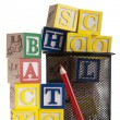 Stock Photo: Wooden blocks Back to School