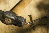 Hammer und nägel — Stockfoto