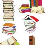 Set books — Stock Vector