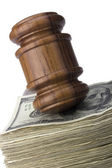 Gavel and Money — Stock Photo