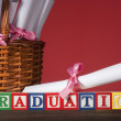 "Wooden blocks ""Graduation"" — Stock Photo"
