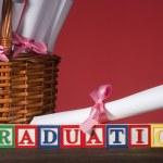 """Wooden blocks """"Graduation"""" — Stock Photo #6605133"""