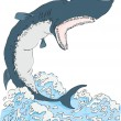 Shark with open mouth Vector - Stock Vector