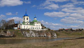 George Pobedonostsa's temple. Village Sloboda. Sverdlovsk area. — Foto Stock