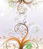 Floral abstract background for design. — ストックベクタ