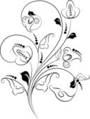 Floral abstracte achtergrond voor ontwerp. — Stockvector