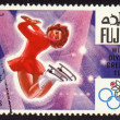 Postage stamp, Winter Olympic Games in Grenoble 1968 - Stock Photo