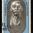 Postage stamp from GDR with Pierre de Coubertin — Stock Photo