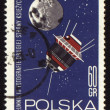 Postage stamp from Poland with soviet spaceship Luna-3 - Stock fotografie