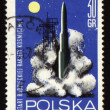 Rocket start on post stamp — Stock Photo #5412135