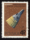 Postage stamp from Poland with american spaceship Gemini — Stock Photo