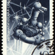 Postage stamp with soviet automatic station Luna-16 - ストック写真