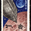 Royalty-Free Stock Photo: Post stamp with american spaceship Apollo-10