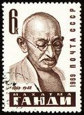 Mohandas Karamchand Gandhi portrait on postage stamp — Stock Photo
