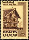 Eski ahşap evin posta damgası — Stok fotoğraf