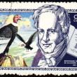 Alexander von Humboldt and eagle on post stamp — Stock Photo